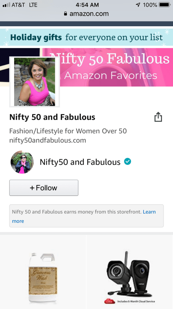 Nifty50Fabulous Amazon Influencer Page