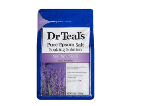 Dr Teals Lavender Epsom Salt for relaxing bath before bedtime