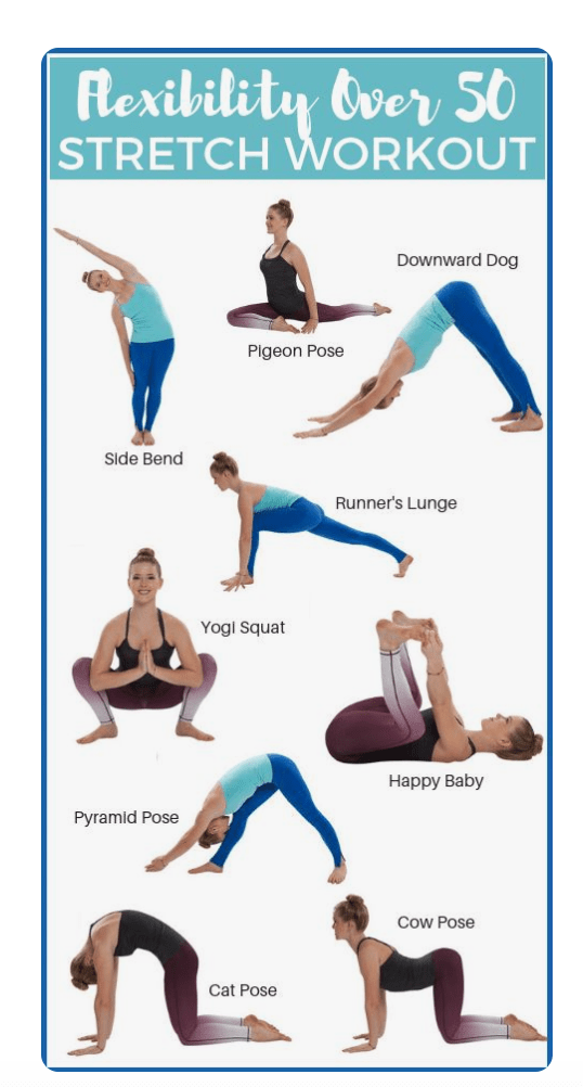 At home flexibility training for  women over 50
