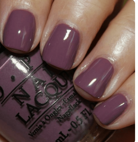 Beautiful grey/purple tones for fall nails