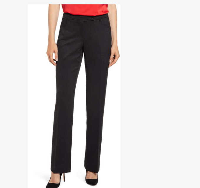 Anne Klein Mini Flared Black Pants