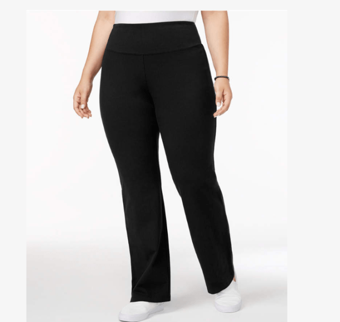 Style & Co Plus Size Tummy-Control Boot Cut Yoga Pants