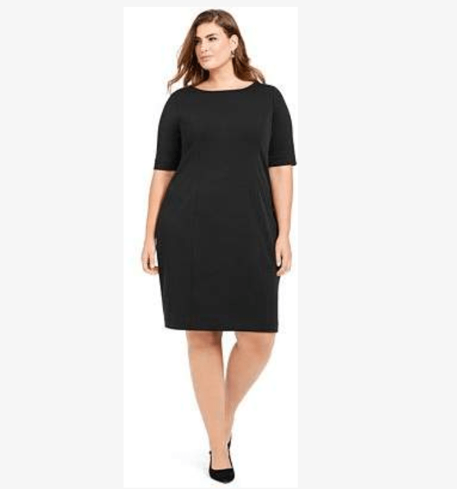Plus size women now have great selection of little black dresses
