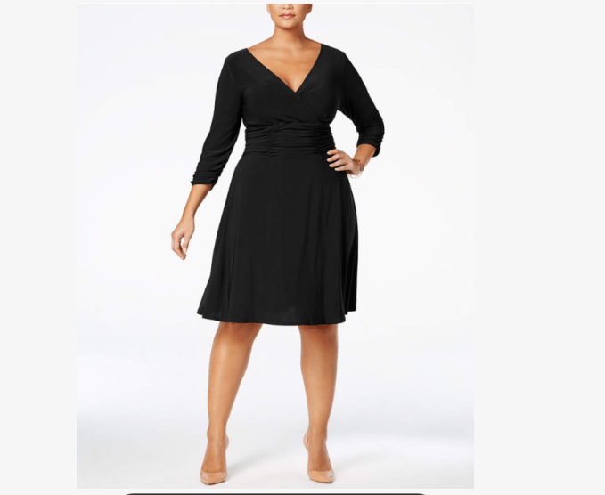 This a-line dress would be a FABULOUS option for carrot shaped women.