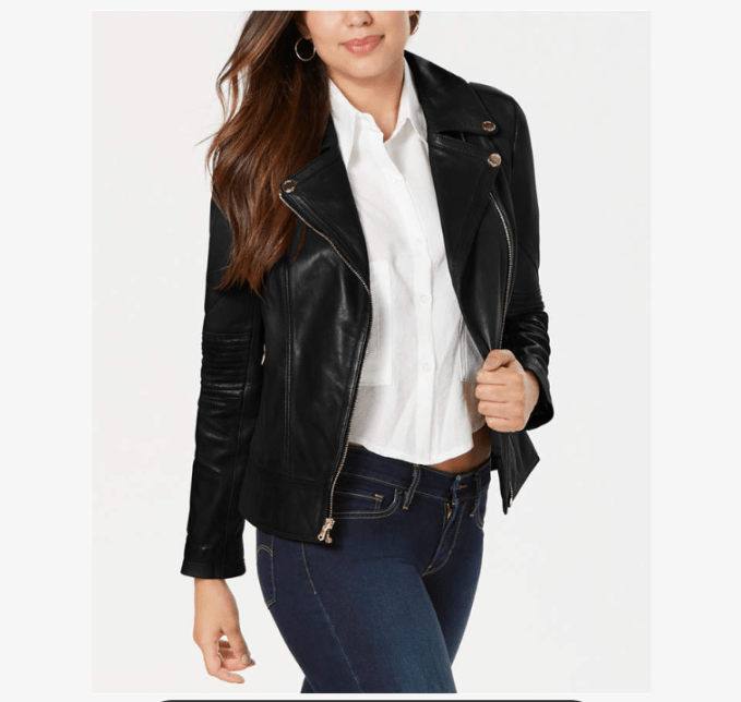 A black leather jacket is a classic