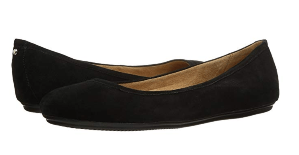 Naturalizer Brittany has moderate arch support and is a versatile ballet flat that comes in leather and suede.