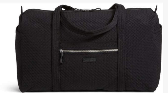 Vera Bradley Iconic Travel Duffle Bag  is made with microfiber