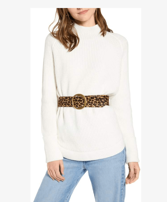 Treasure and Bond Mock Turtleneck belted