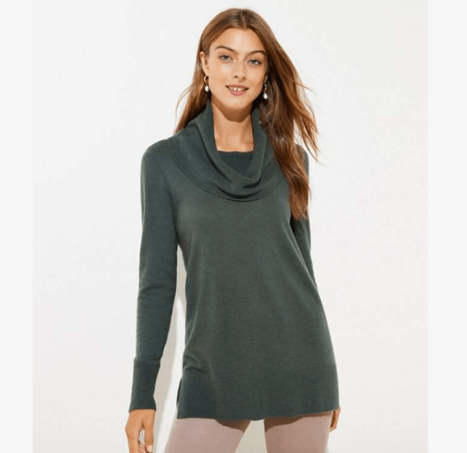 Luxe Knit Cowl Neck Sweater for a stylish look