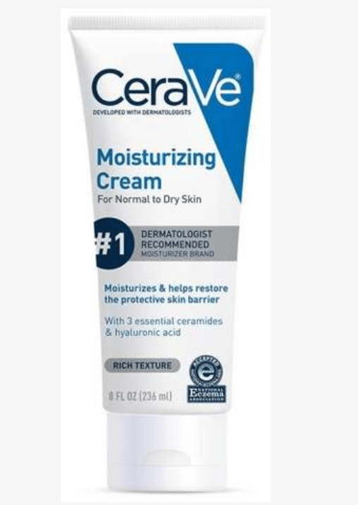 Cera Ve Moisturizing Cream to keep in handbag or travel bag for use on dry chapped hands.