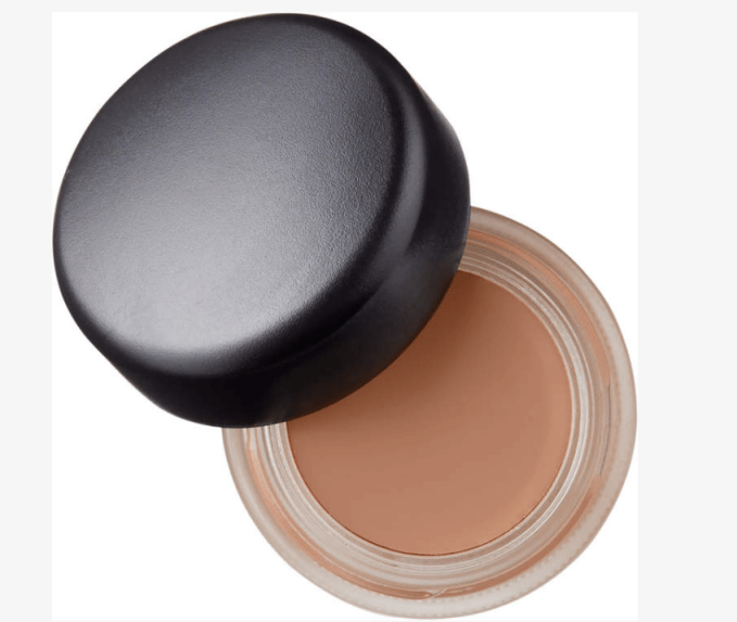 MAC Pro Longwear Paint Pot in the color Painterly is a long-wearing blendable cream shadow that can be worn alone or with other products. I put it all over my eyelid to help eyeshadow last longer.