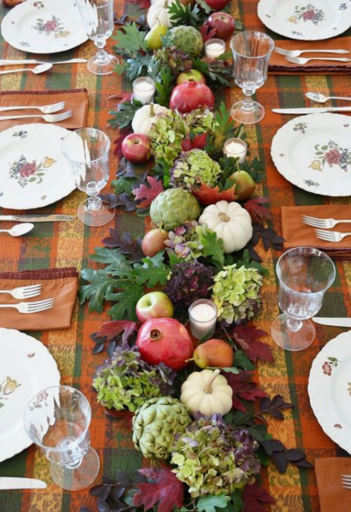 How To Create A Picture Perfect Thanksgiving Table- bring the bounty of the season into your home with flowers, fruits, berries