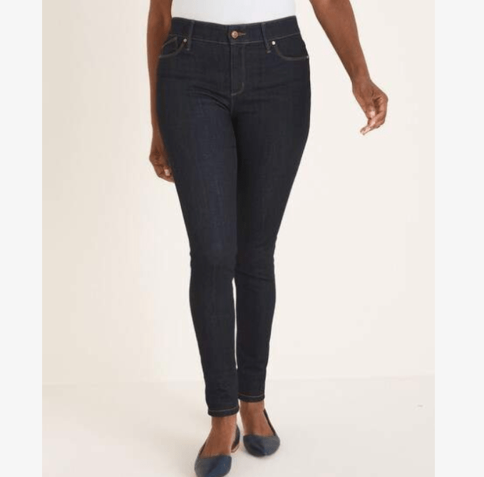 Chico's stretch jeggings are great to wear if you want to tuck your jeans in your taller boots
