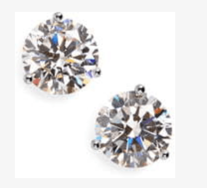These are 4 ct Cubic Zirconia Earrings.  Perfect for everyday wear