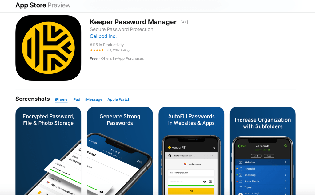 This app is free, but they do have a paid version that shares your passwords for all your devices.  I actually have the paid version so my passwords are saved when I use my iPhone, iPad, and computer.