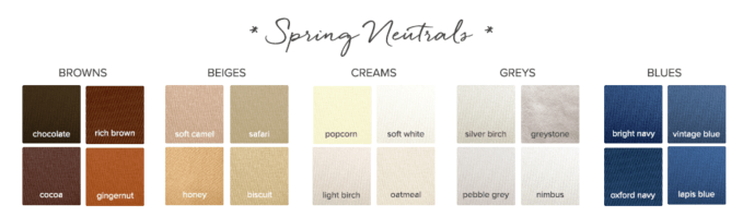 Neutrals for a Spring Seasonal Color Palette.