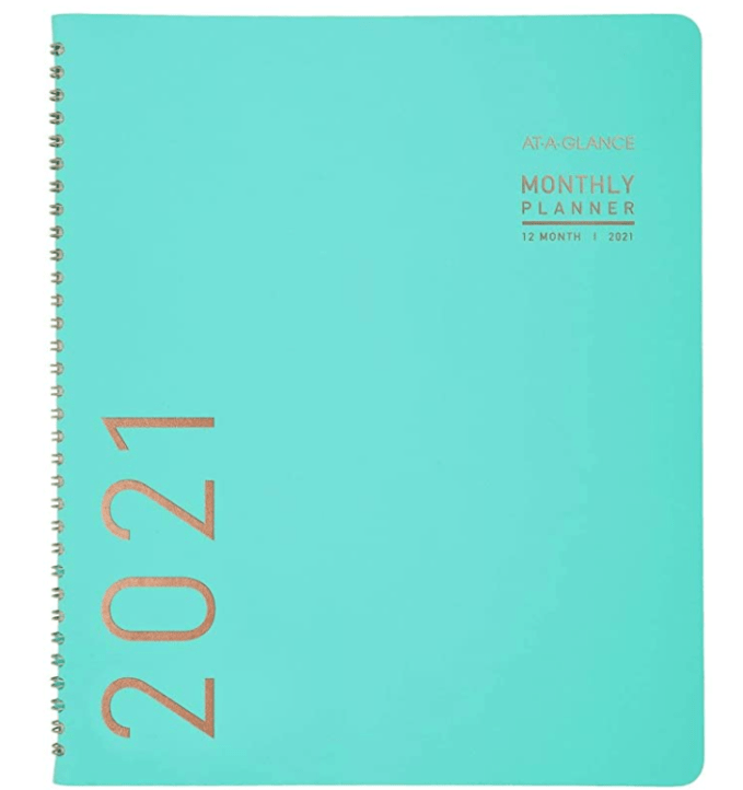 Start making plans for a better, less COVID restrictive new year.  I love the At-A-Glance large Monthly planners.