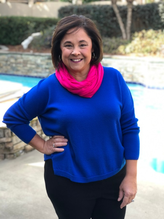 This year I have added several of the Florence Infinity Scarves from Kettlewell Colours to add color and interest to my outfits.  These scarves will work great as we transition from winter to spring.
