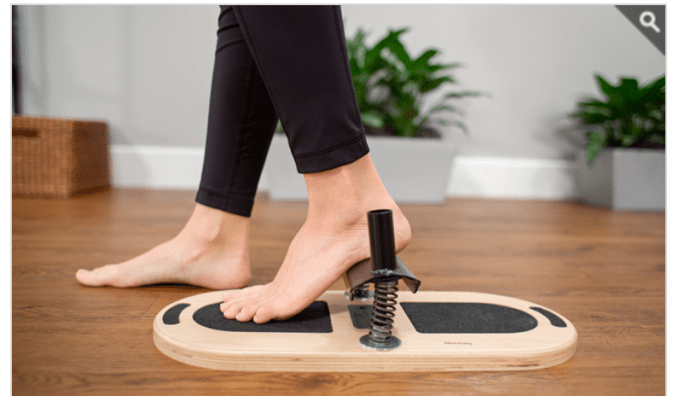 The Foot Corrector is a great Pilates tool to help strengthen and life the arches of your feet.
