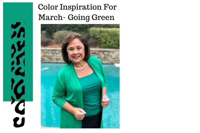 Color Inspiration For March - Going Green