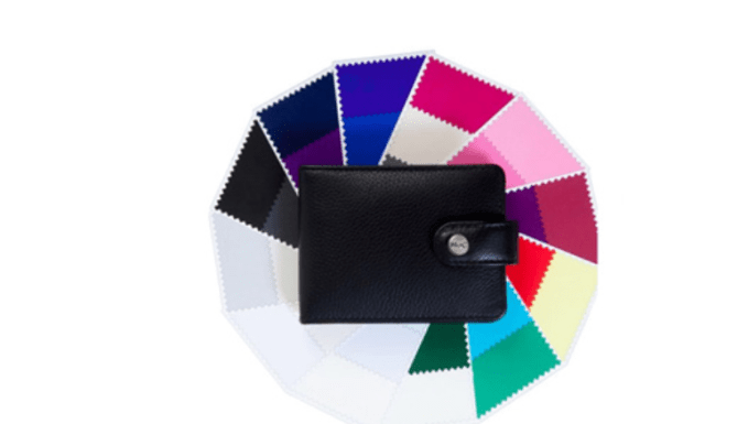 After your color analysis session, you receive a leather wallet with color samples of the 36 colors in your seasonal color palette.