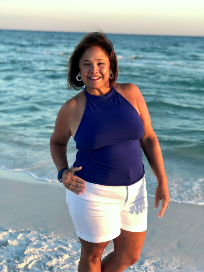 Vacation Fashion- Enjoying Sunsets in Beach Style. Try Silicone Nipple Covers instead of strapless bra for a more relaxed and comfortable beach style