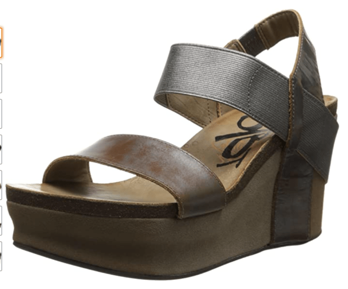 Fun and funky shoes to wear with white denim cropped jeans, the OTBT Bushnell in Pewter