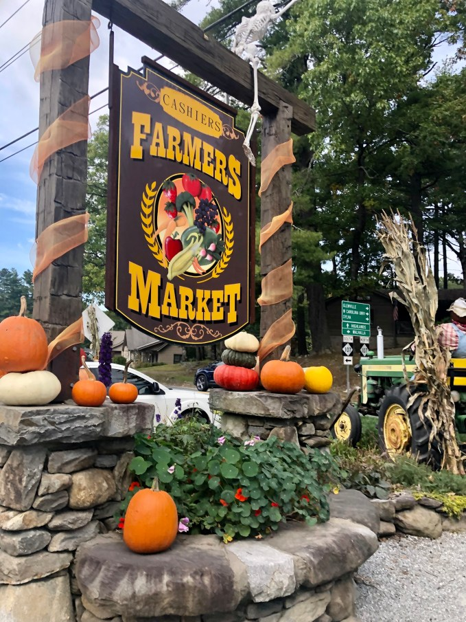 Great stop for local produce and take home gift is Farmer's Market in Cashiers.