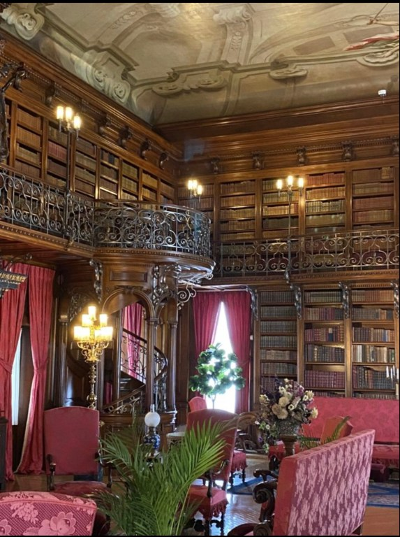 My favorite room at the Biltmore Estate is the library with it many books.