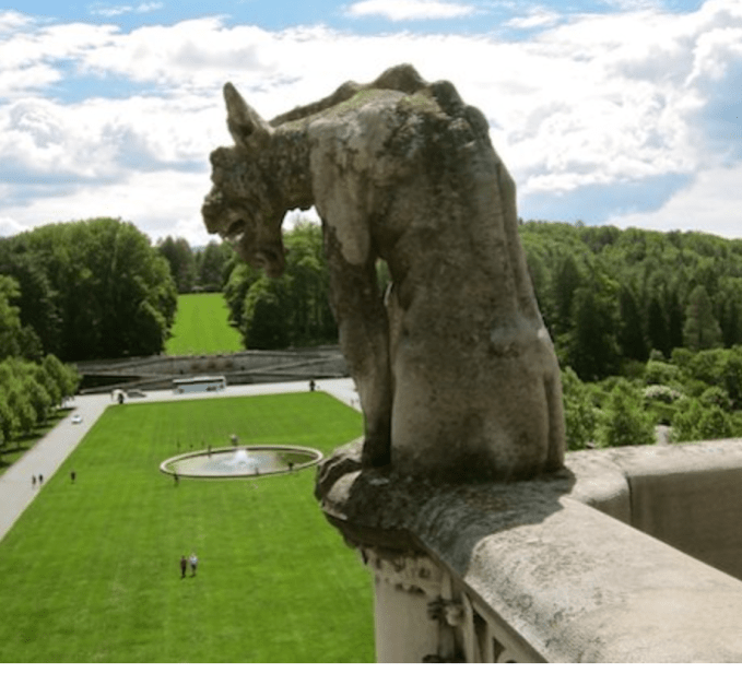 Take time to discover all the unique details on the outside of the Biltmore House, including gargoyles and grotesques.