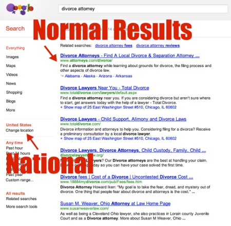 National Serp Result