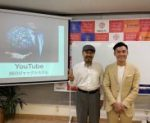 youtubeSEO対策セミナーで迫田和也先生と似顔絵師花木マロン