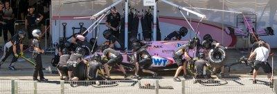 Perez, Force India, tyre change