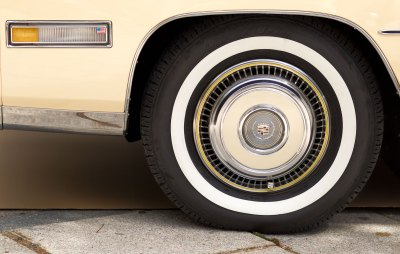 Cadillac Eldorado front wheel and sidelight