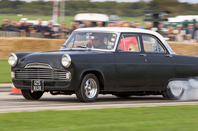 Ford Zodiac burnout at Sywell Classic