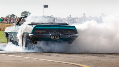 Burnout, Tin Indian, Pontiac Firebird, Sywell Classic