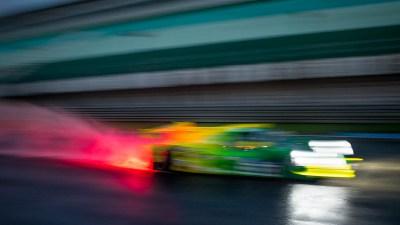 LMP3 car in the wet at night at night, Circuito Estoril