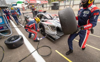 Labre Competition LMP2 Ligier pit stop during Friday Practice. WEC Total 6 Hours of Spa-Francorchamps 2019