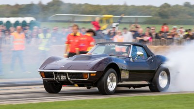 Hot rod and dragster racing, Sywell Classic Pistons and Props show Sept 23 - 24 2017, Sywell Aerodrome, Northamptonshire, England