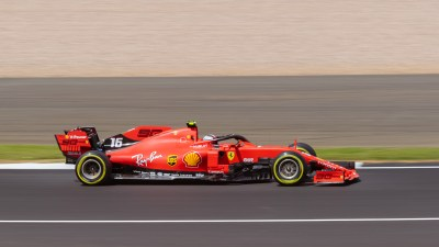 Charles Leclerc on track during Friday practice. F1 British Grand Prix, 2019, Silverstone