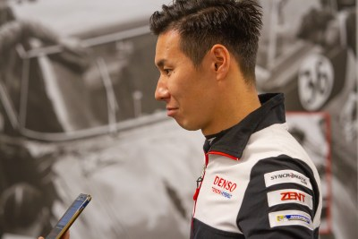 Kamui Kobayashi interviewed during press conference