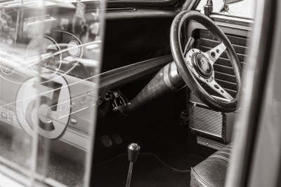 Interior detail, 1969 Mini Cooper S