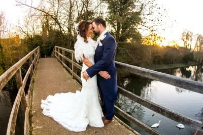 Olde Bell Hurley Wedding Embrace