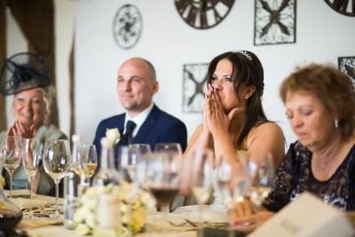 Bride Wedding Tears Old Luxters Barn