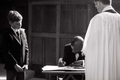 All Saints Church Marlow Wedding Signing Register