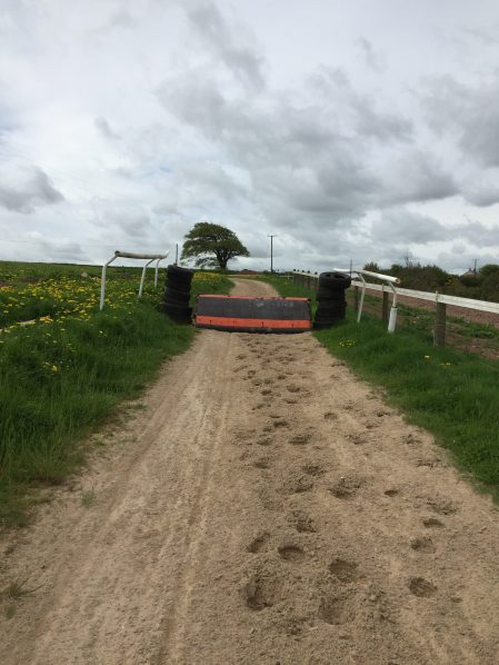 Round canter with schooling hurdles.