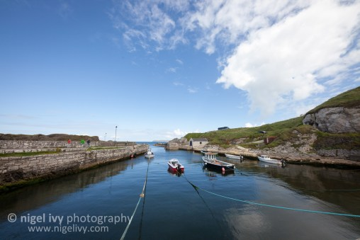 Nigel Ivy Photography - Ballintoy Harbour clouds and blue sky