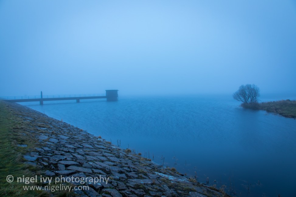 I went up to Killylane Reservoir this morning for sunrise. It was a complete white out with fog. Here's one of the shots I got this morning.