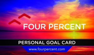 Four Percent Challenge Review - Goal card 2