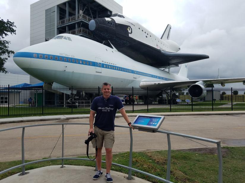 Nigel Yates at the Johnson Space Centre, Houston